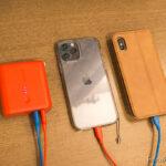 モバイルバッテリーとスマートホン