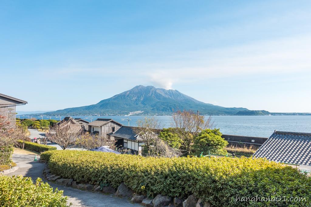 仙巌園と桜島