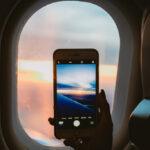 スマートホンで機内撮影